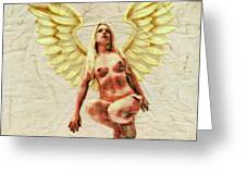 Angel Of Love By Mb Greeting Card