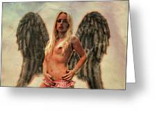 Angel Of Lust By Mb Greeting Card