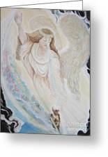 Flying Lamb Productions.   Angel Of Mercy -2 Greeting Card