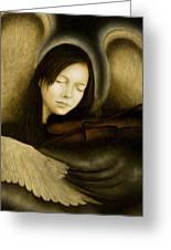 Angel Of Music Greeting Card