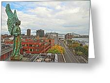 Angel Of Old Montreal Greeting Card