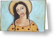 Angel Of Tolerance Greeting Card by Rain Ririn