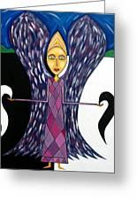 Angel Of Ying Yang Greeting Card