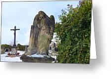 Angel On Graveyard Greeting Card