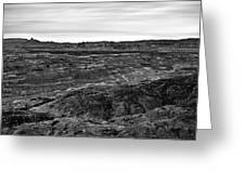 Angel Peak Badlands, Bloomfield, New Mexico, Illuminated By A Cl Greeting Card