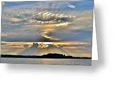 Angel Ray Sunset Greeting Card