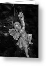 Angel Statue Hanging On Greeting Card