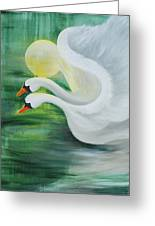 Angel Swans Greeting Card