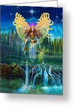 Angel Tarot Card Archangel Jophiel  Greeting Card