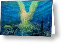 Angel Tarot Card Mermaid Angel Greeting Card by Steve Roberts
