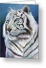 Angel The White Tiger Greeting Card