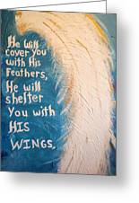 Angel Wing Psalms 91 4 Greeting Card