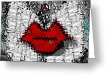 Angel Wings Brings Love And Peace Greeting Card