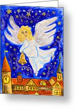 Angel With Christmas Bell Greeting Card