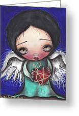 Angel With Heart Greeting Card