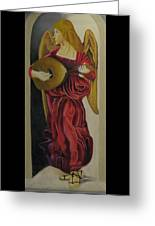 Angel With Lute Greeting Card