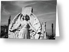 Angel With Outspread Wings And Other Angels In The Background Greeting Card