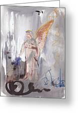 Angel Writing Doodles In Spirit Greeting Card