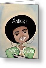 Angela Davis #2 Greeting Card