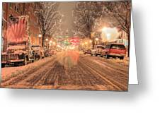 Angelic Snow Greeting Card by JC Findley