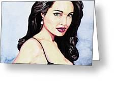 Angelina Jolie Portrait Greeting Card