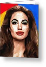 Angelina Jolie  Greeting Card