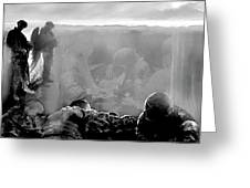 Angels And Brothers Black And White Greeting Card