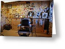 Angel's Barber Shop On Route 66 Greeting Card