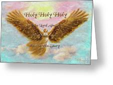 Angels Cry Holy Greeting Card