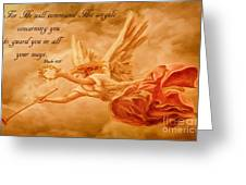 Angels On Guard Greeting Card