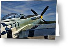 Angels Playmate P-51 Greeting Card