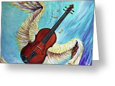 Angel's Song Greeting Card by Nancy Cupp