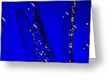 Angels Wings Blue Greeting Card