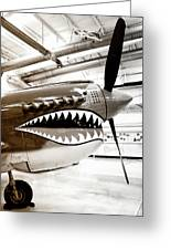 Anger Management Bw Palm Springs Air Museum Greeting Card