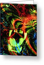 Anger Tunnel Greeting Card