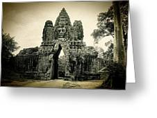 Angkor Thom Southern Gate Greeting Card