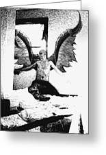 Angle Of Darkness Greeting Card