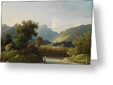 Angler By A Stream Greeting Card
