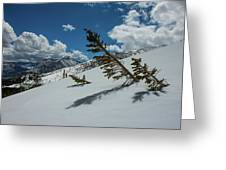 Angles Of The Mountain Greeting Card
