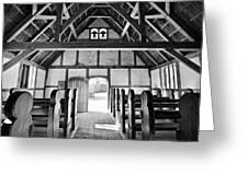 Anglican Church At James Fort Interior Greeting Card