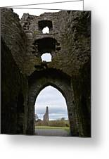 Anglo - Norman Castle. Greeting Card