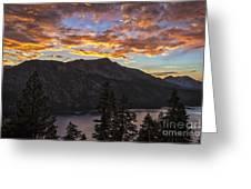 Angora Ridge Sunset 9 Greeting Card