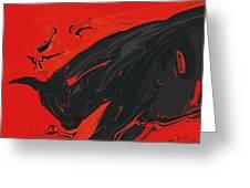 Angry Bull 2 Greeting Card