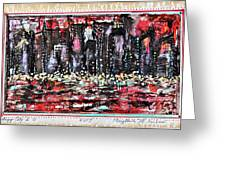 Angry City 2 Greeting Card