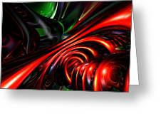 Angry Clown Abstract Greeting Card