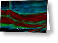 Angry Red Sea Greeting Card