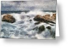 Angry Sea Greeting Card