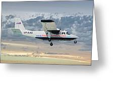 Anguilla Air Services Britten-norman Bn-2a-26 Islander 114 Greeting Card