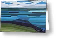 Angular Lake Greeting Card