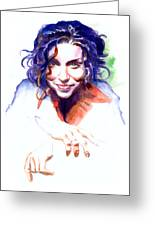 Ani Difranco Greeting Card